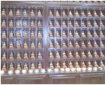 the 1000 Buddhas in the main shrine room